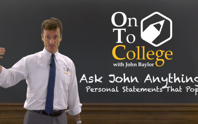 Ask John Anything! – Personal Statements That Pop