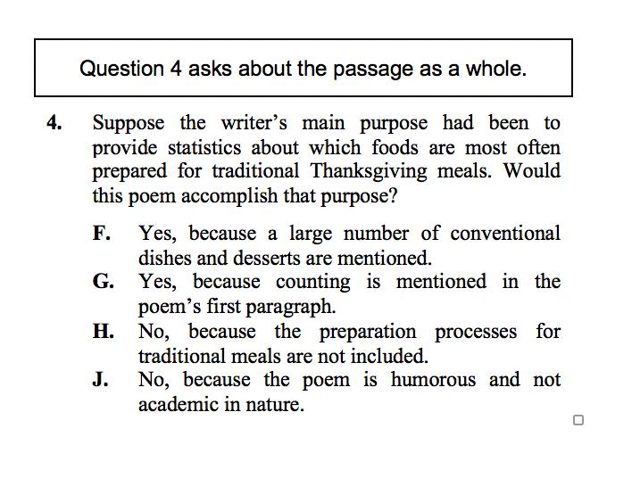 Thanksgiving English Question 4
