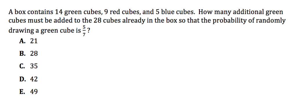 ACT Math Practice Question 5