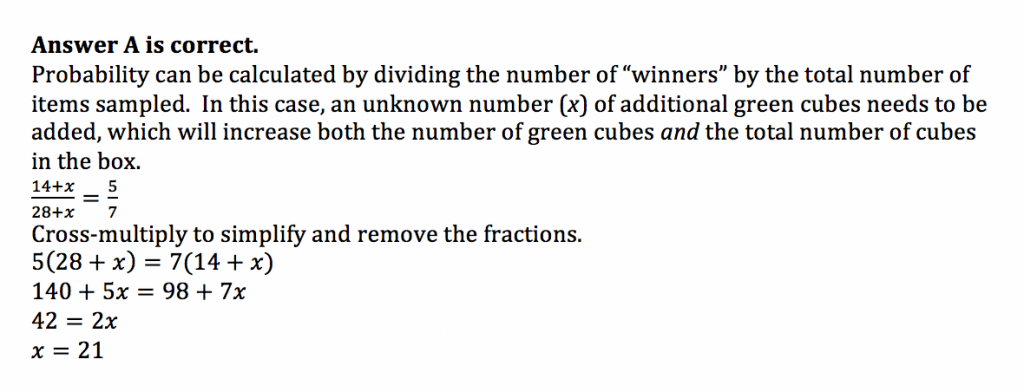 ACT Math Practice Question 5 - Solution