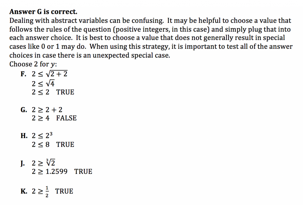 ACT Math Practice Question 6 - Solution