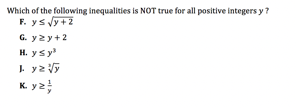 ACT Math Practice Question 6