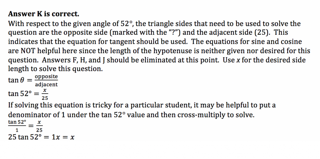 ACT Math Practice Question 8 - Solution