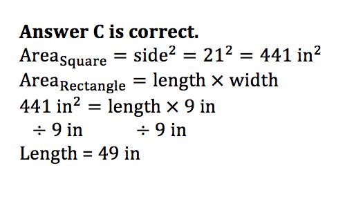 Math Practice Question 3 - Solution