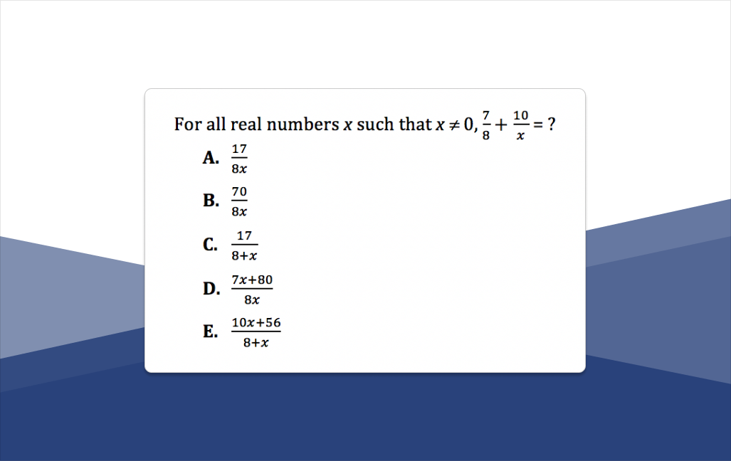 8 ACT Math Practice Questions (+ Explanations)