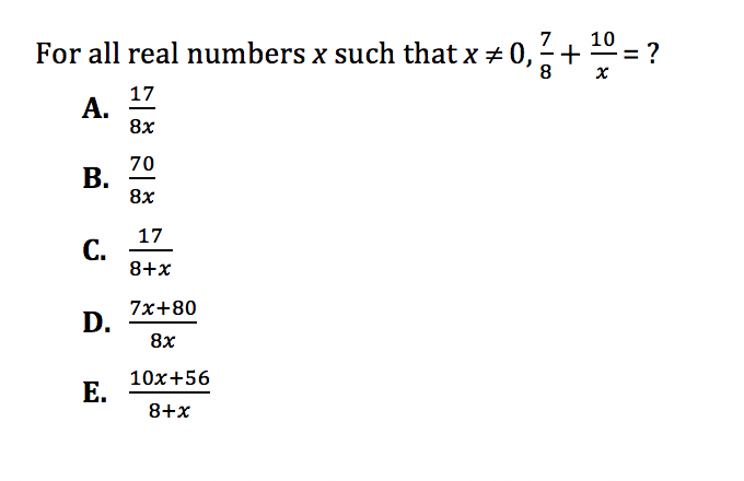 ACT Math Practice Question 1