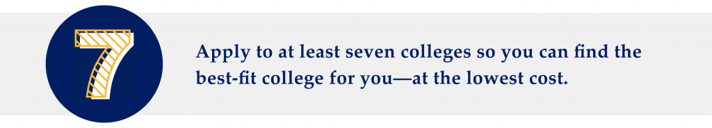 How many colleges should you apply to?